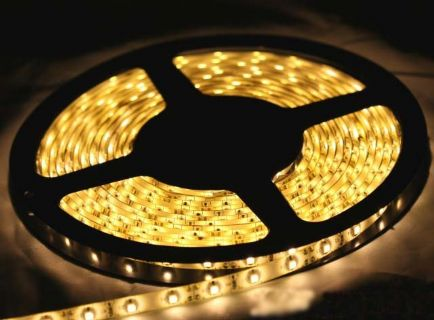 3528 Led Strip Warm White DC12v 5mtr